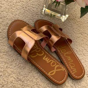 New Sam Edelman Girls Bronze Sandals 3